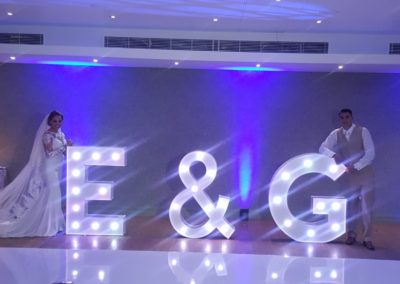 Bride & Groom Light up Sign Eventastic