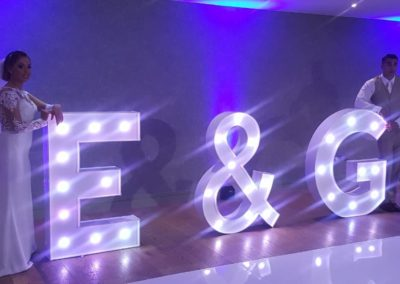 E&G Sign Bride & Groom Eventastic