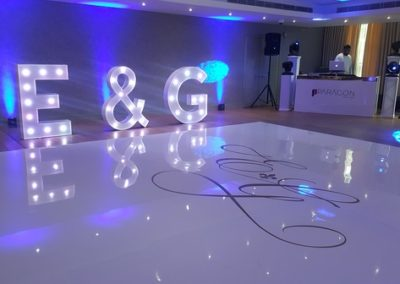 E&G Sign, Dance Floor & DJ Eventastic